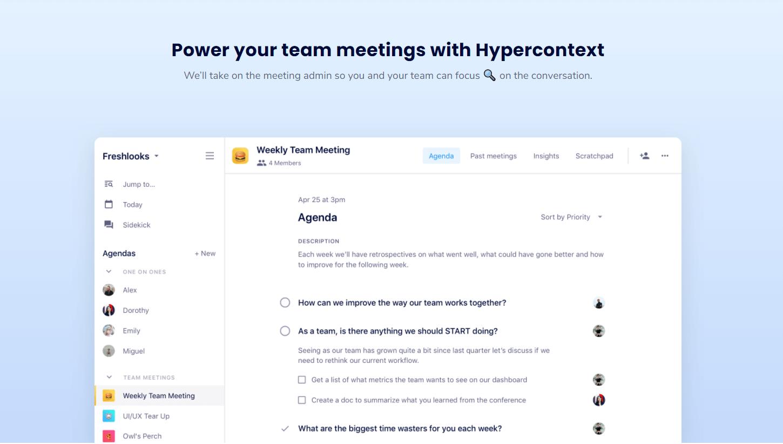 hypercontext dashboard
