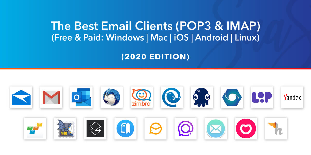 19 Best Email Clients In 2021 Windows Mac Android Ios Free Paid