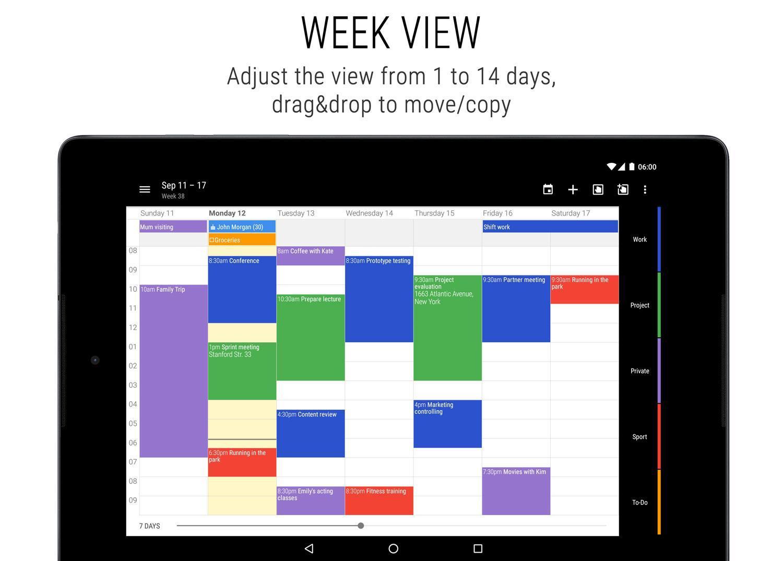 business calendar 2 main interface