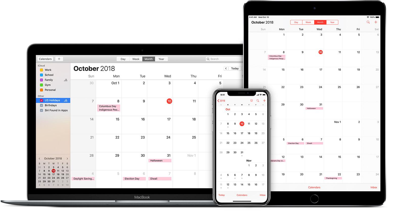icloud calendar, apple ical
