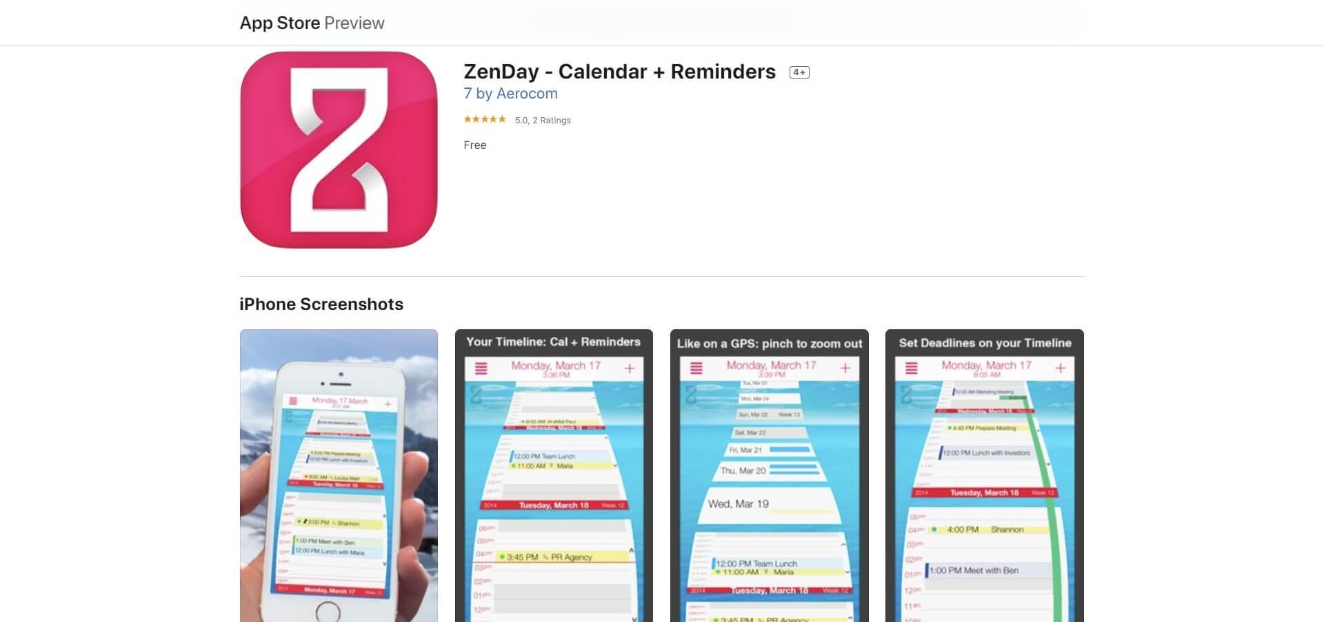 zenday calendar app