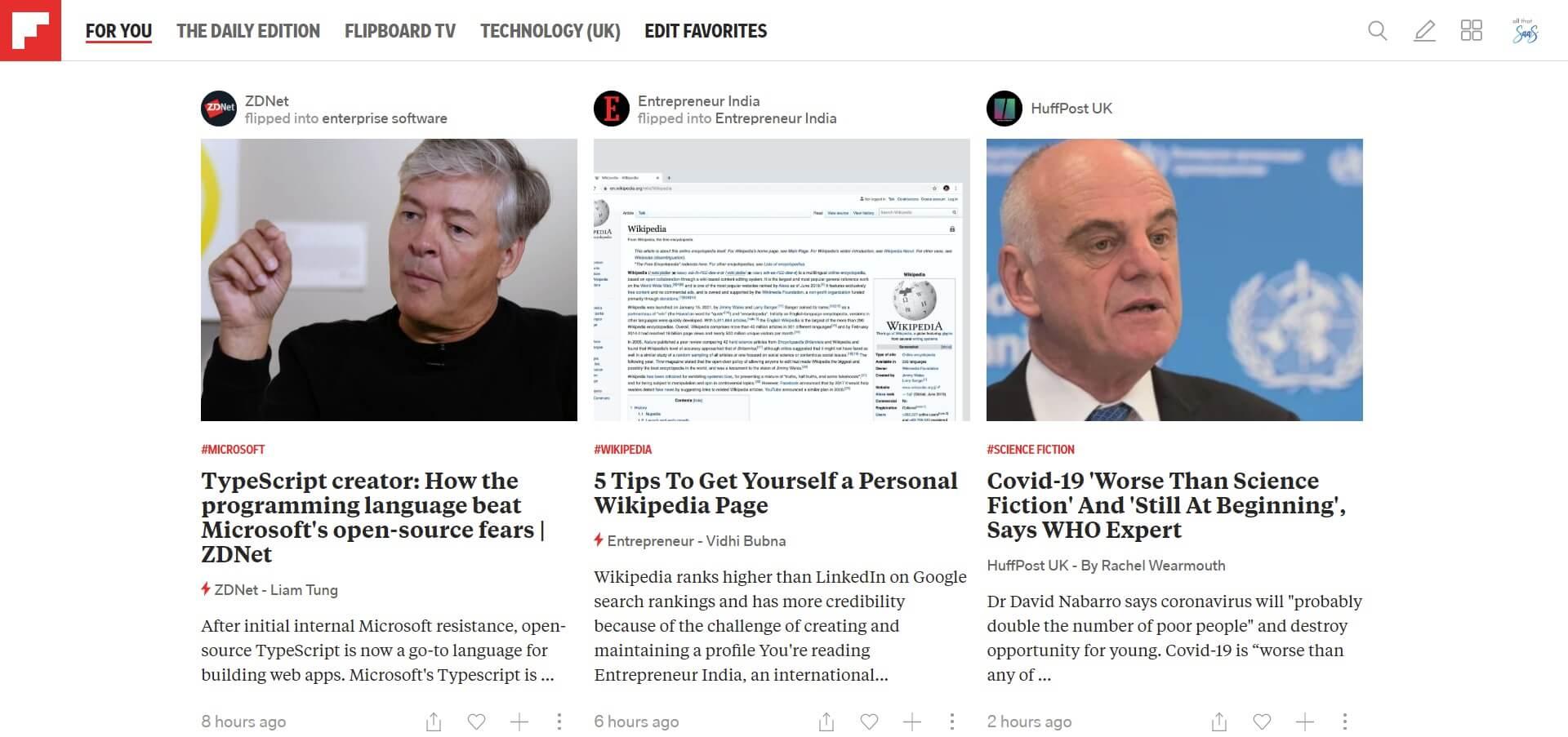 flipboard news main