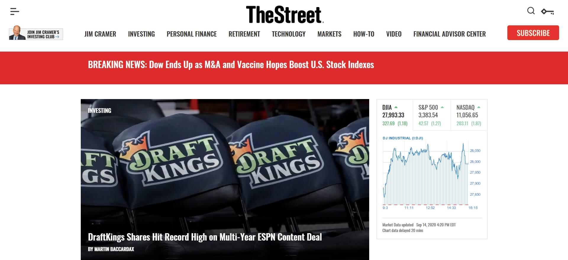 thestreet main website
